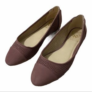 Vince Camuto Purple Leather Mesh Flats 6.5